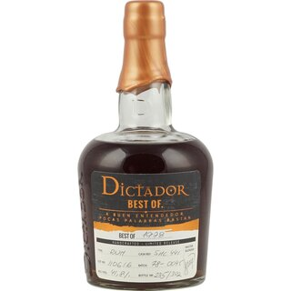 Dictador Best of 1978 Vintage Single Cask Rum