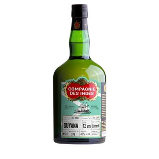 COMPAGNIE DES INDES Guyana 12YO Single Cask Rum - Tasting-Flasche 4cl
