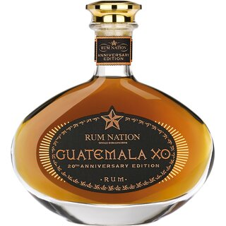 Rum Nation Guatemala XO 20th Anniversary - Tasting-Flasche 4cl