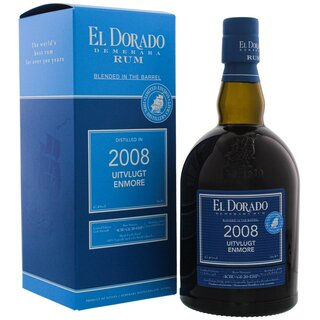 El Dorado Rum Blended in the Barrel 2008 Uitvlugt Enmore Limited Edition