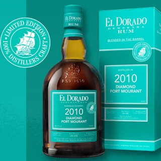 El Dorado Rum Blended in the Barrel 2010 Diamond Port Mourant Limited Edition