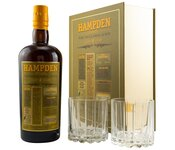 Hampden - Pure Single Jamaican Rum 46% mit Gläsern