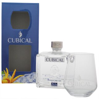 Cubical Premium London Dry Gin mit Glas